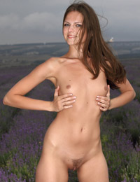 Model tessa in lavender storm